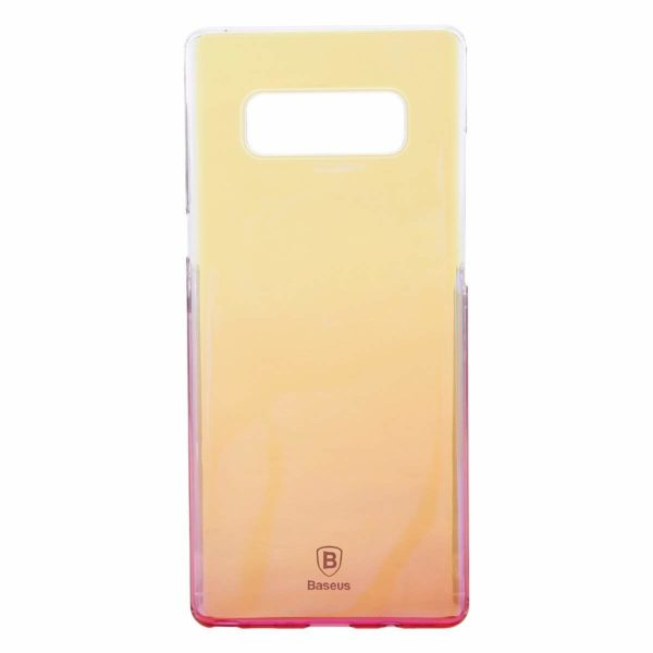 "Baseus Glaze Colorful Case For ""SAMSUNG Galaxy Note 8"" Ultra Thin Anti-scratch Shockproof Double Colors PC Protective Back Cover Case For SAMSUNG Galaxy Note 8 - Pink 3"