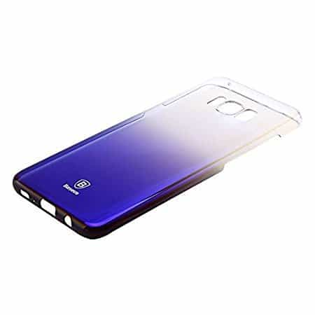 Baseus Glaze Colorful Case Ultra Thin Anti-Scratch Shockproof Double Colors Hard Plastic PC Protective Back Cover Case for Samsung Galaxy (Samsung Galaxy S8, Blue) 1