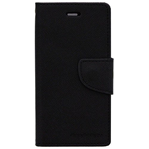 CZap Mercury Diary Card Wallet Flip Case Back Cover for OnePlus One Plus One+ - Black 1