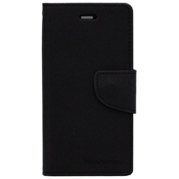 Cubezap Mercury Goospery Fancy Diary Card Wallet Flip Case Back Cover for HTC One E8 E 8 - Black 4