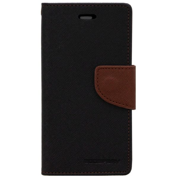 Cubezap Mercury Goospery Fancy Diary Wallet Flip Case Back Cover for Motorola Moto G 2nd Gen - Brown Black 1