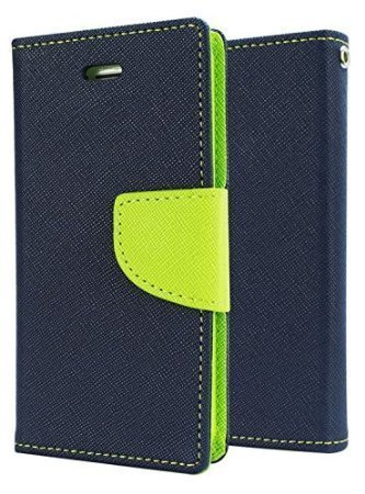 DW Mercury Fancy Diary CARD Wallet Flip Case Back Cover for Samsung Galaxy A8 - Blue 1