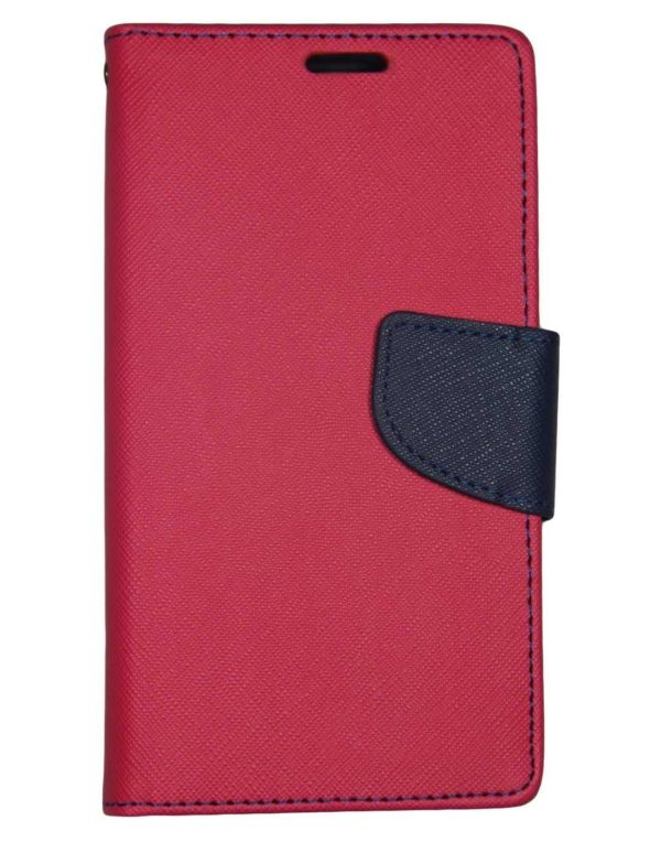 J.N. Mercury Fancy Diary Case Flip Cover For Samsung Galaxy E5 - Pink 3