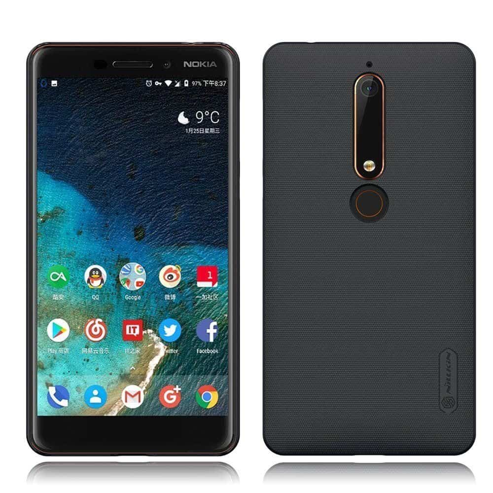 Nillkin Frosted Hard Back Cover for Nokia 6 2018(Black) 4