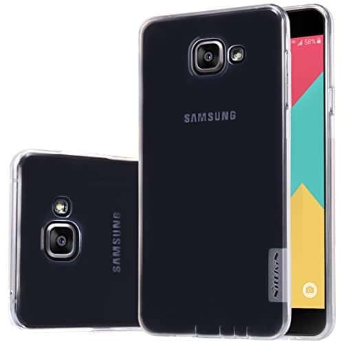 Nillkin Nature Soft TPU Back Cover Case for Samsung Galaxy A7 (2016)- Transparent White 1