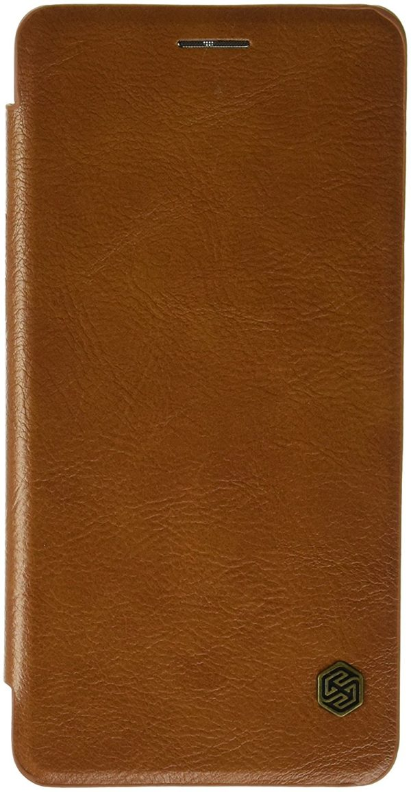 Nillkin Qin Series Royal Leather Flip Case Cover Case For One Plus 3 (Brown) 3