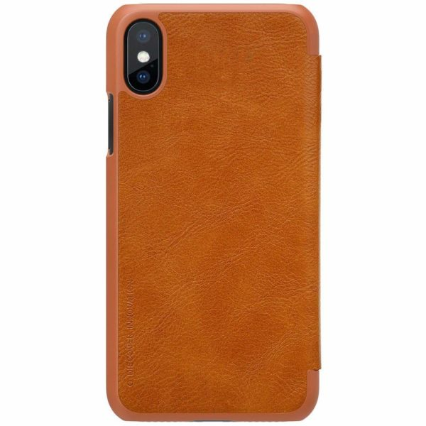 Nillkin Qin Series Royal Leather Flip Case Cover Case For iPhone X (Brown) 6