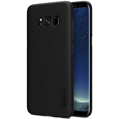 Nillkin Super Frosted Shield Slim Fit Back Case Cover for Samsung Galaxy S8 (with Nillkin Screen protector) Black 1
