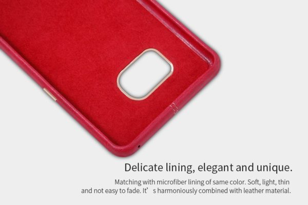 Original NILLKIN Englon Leather Back Cover Case for Samsung Galaxy Note 7 - ( Red Color ) 6