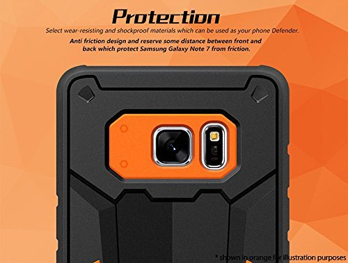 Original Nillkin Defender-2 Series Armor-border bumper Back Case Cover for Samsung Galaxy Note 7 ( Red Color ) 9