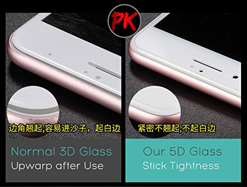"Royal Star 5D Curved 9H Full Coverage Edge to Edge Screen Tempered Glass Screen Guard for Apple iPhone 7 / iPhone 8 (4.7"") - Black Color 8"