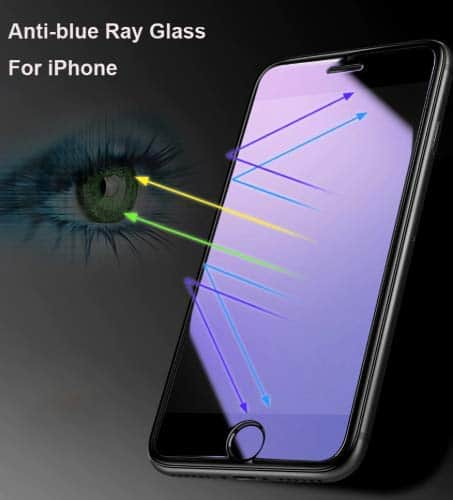 Royal Star 6D Curved Anti-Blue Ray 9H Full Screen Coverage Screen Tempered Glass Protector Guard for (Apple iPhone 7 Plus & Apple iPhone 8 Plus, Black) 6