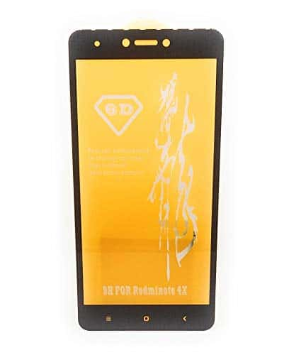 Royal Star 6D Full Glue 9H Full Coverage Edge to Edge 2.5D Curved Screen Tempered Glass Protector Guard for (Xiaomi Redmi Note 4, Black) 3