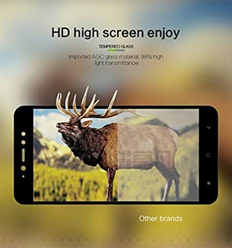 Royal Star 6D Full Glue 9H Full Coverage Edge to Edge 2.5D Curved Screen Tempered Glass Protector Guard for (Xiaomi Redmi 5, Black) 6