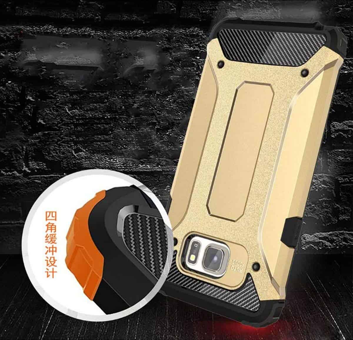 Royal Star Dual Layer Armor Neo-Hybrid Shock-Proof Back Case Cover for (Samsung Galaxy Note Fan Edition (FE), Gold) 5