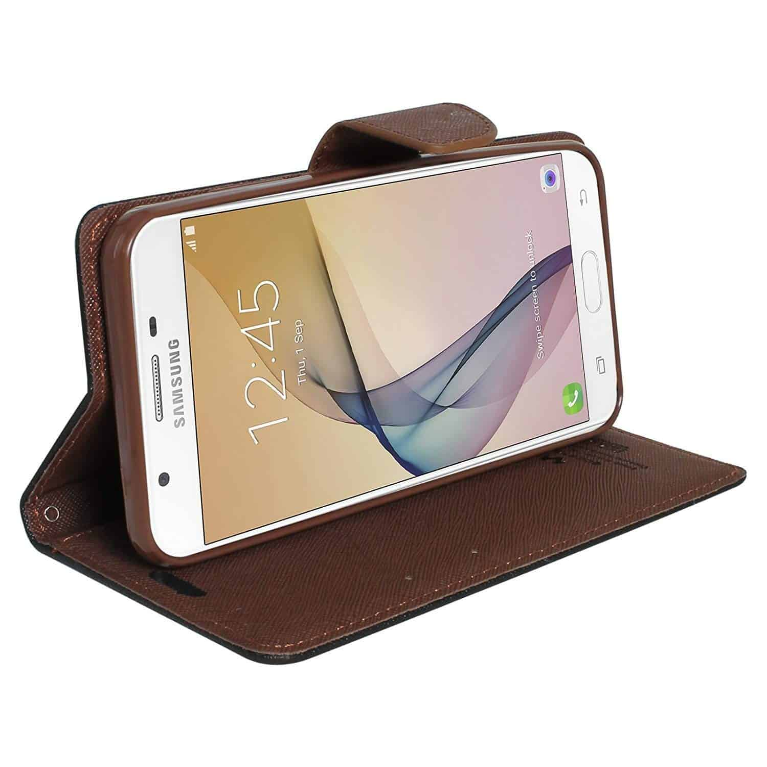 Royal Star Full Protection Fancy Diary Card Wallet Flip Case Back Cover for Samsung Galaxy A5 (2016 Model) (A510) (Black Brown) 6