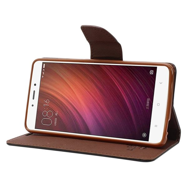 Royal Star Full Protection Fancy Diary Card Wallet Stand View Flip Case Back Cover for (Oppo A37, Black Brown) 3