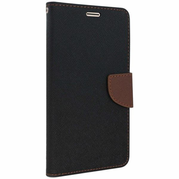 Royal Star Full Protection Fancy Diary Card Wallet Stand View Flip Case Back Cover for (Vivo V9, Black Brown) 1
