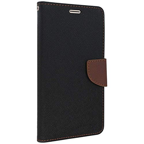 Royal Star Full Protection Fancy Diary Card Wallet Stand View Flip Case Back Cover for (Xiaomi Redmi 6 Pro, Black Brown) 1