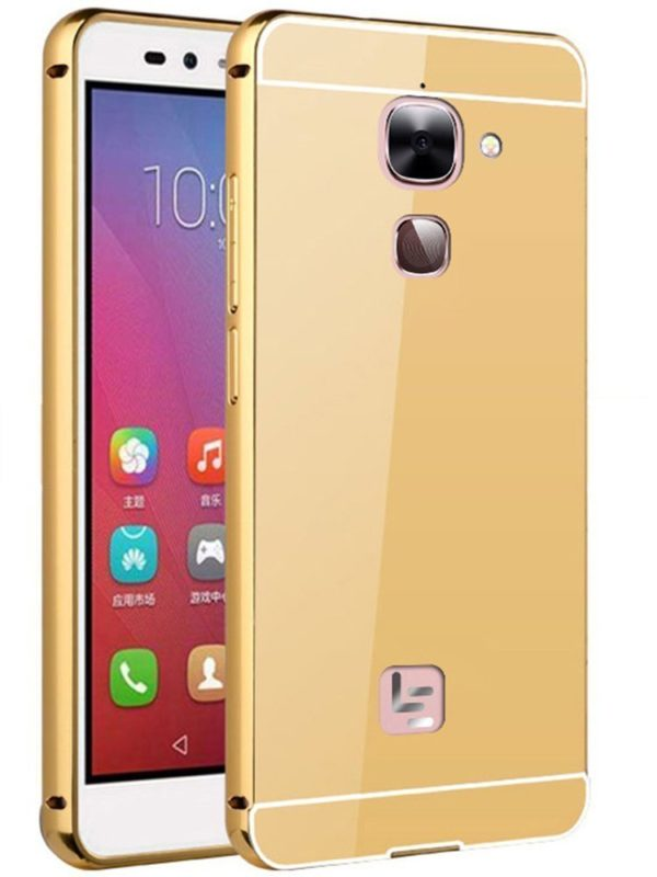 Royal Star Luxury Metal Bumper + Acrylic Mirror Back Cover Case For LeEco LeTv Le 2 / Le 2 Pro (5.5 inch Display ) (Gold Mirror) 3