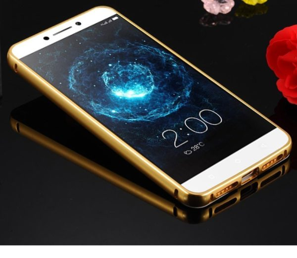 Royal Star Luxury Metal Bumper + Acrylic Mirror Back Cover Case For LeEco LeTv Le 2 / Le 2 Pro (5.5 inch Display ) (Gold Mirror) 6