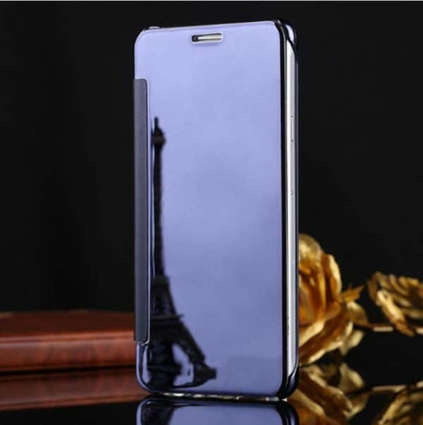 Royal Star Luxury Smart Clear View Mirror Flip Cover Back Case for (Samsung Galaxy A8 (2015 Model), Dark Blue) 4