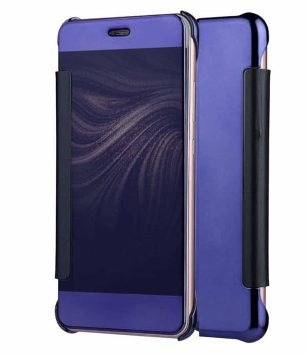 Royal Star Luxury Smart Clear View Mirror Flip Cover Back Case for (Samsung Galaxy A8 (2015 Model), Dark Blue) 1