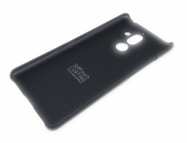 Royal Star Metallic Paint Series Matte Hard Plastic 0.4mm Ultra Thin Back Cover Case (Nokia 7 Plus, Black) 3