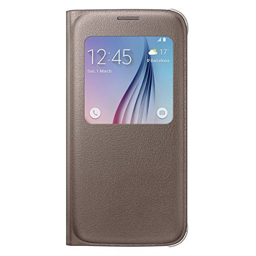 Sumsung S-View PU Cover for Galaxy S6 (Gold) 1