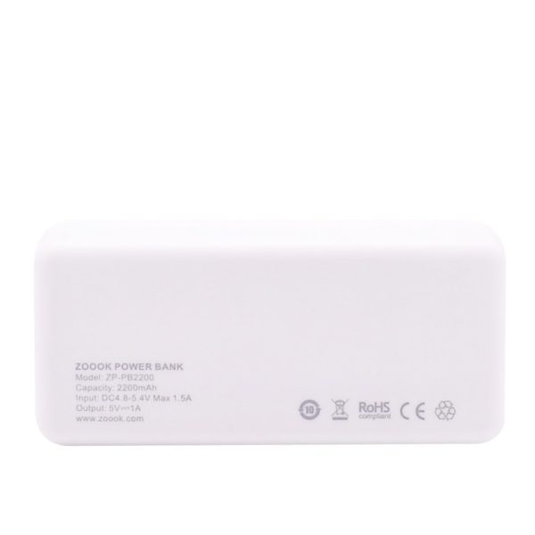 ZOOOK PORTABLE MOBILE CHARGER 2200MAH 4