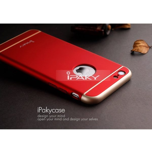 iPaky 3 Piece Hybrid Protective Back Case Cover for Apple iPhone 6 Plus / 6S Plus - Red 4