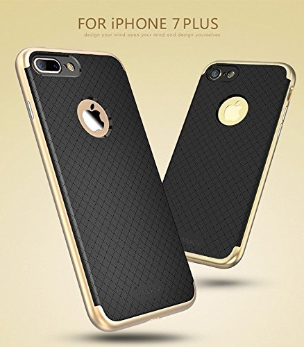 "iPaky Case Premium TPU+PC Hybird Armor Protective Back Bumper Case Cover for Apple iPhone 7 Plus (5.5"") -Golden (Not For iphone 7) 1"